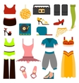 design dance clothes vector image vector image