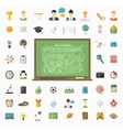 education big set in flat style vector image vector image