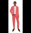 fashionable clothes presentation on male model vector image