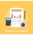 Financial Statement vector image