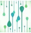 Flat style green water drops vector image vector image