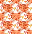 Fox pattern6 vector image