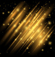 golden lights effect abstract image of flare vector image