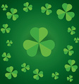 happy saint patricks day shamrock leaves pattern vector image vector image