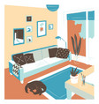 interior living room full comfy furniture vector image vector image