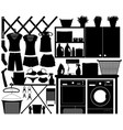 laundry design set a big set of laundry vector image vector image