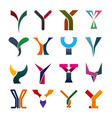 letter y business icons and symbols vector image vector image