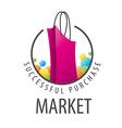 logo burgundy shopping bag