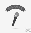 microphone musical symbol singing pop sign vector image vector image