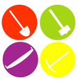 monochrome icon set with garden tools vector image vector image