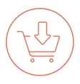 Online shopping cart line icon vector image vector image