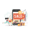 online shopping sale flat style design vector image