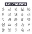 parenting line icons signs set outline vector image vector image
