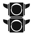 pedestrian traffic lights icon simple style vector image vector image