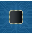 Realistic black electronic microchip vector image