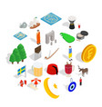 rejuvenescence icons set isometric style vector image vector image