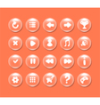 Round buttons with icons for interface vector image vector image