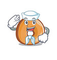 sailor bagels character cartoon style vector image vector image