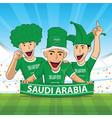 saudi arabia football support vector image vector image