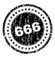 scratched textured 666 stamp seal vector image