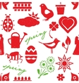 seamless doodle spring pattern vector image vector image