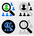 search users eps icon with contour version vector image vector image