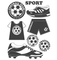 Set of football soccer emblem design elements vector image