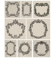 set vintage frames and design elements vector image