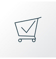shopping cart icon line symbol premium quality vector image vector image