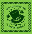 st patricks day poster greeting card vector image