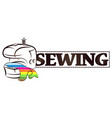 symbol for sewing vector image vector image