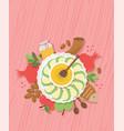 table with symbols jewish holiday rosh hashana vector image