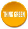 think green orange round flat isolated push button vector image vector image