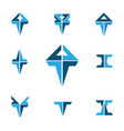 triangle logo creatived design for brand marketing vector image vector image