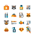 Veterinary Icons Set With Pets vector image vector image