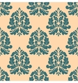 Vintage seamless pattern with abstract iris vector image