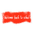 welcome back to school banner vector image vector image