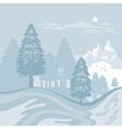 Winter Alpine Landscape vector image