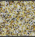 yellow mosaic seamless pattern vector image