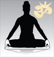 yoga - jalandhara vector image vector image