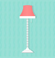 flat style floor lamp icon vector image
