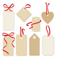 set of blank vintage frames gift tags labels vector image
