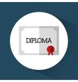 Graduation icon Education concept Flat vector image