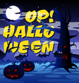 Scary tree with text Op Halloween vector image