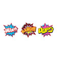 set of comic text sound effect vector image
