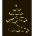 Golden Christmas tree with a star EPS10 vector image