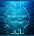 hypnotic blue futuristic template vector image