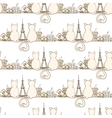 Seamless cat pattern vector image