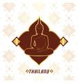 thailand buddha statue thai design pink background vector image