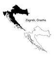 1049 zagreb croatia vector image